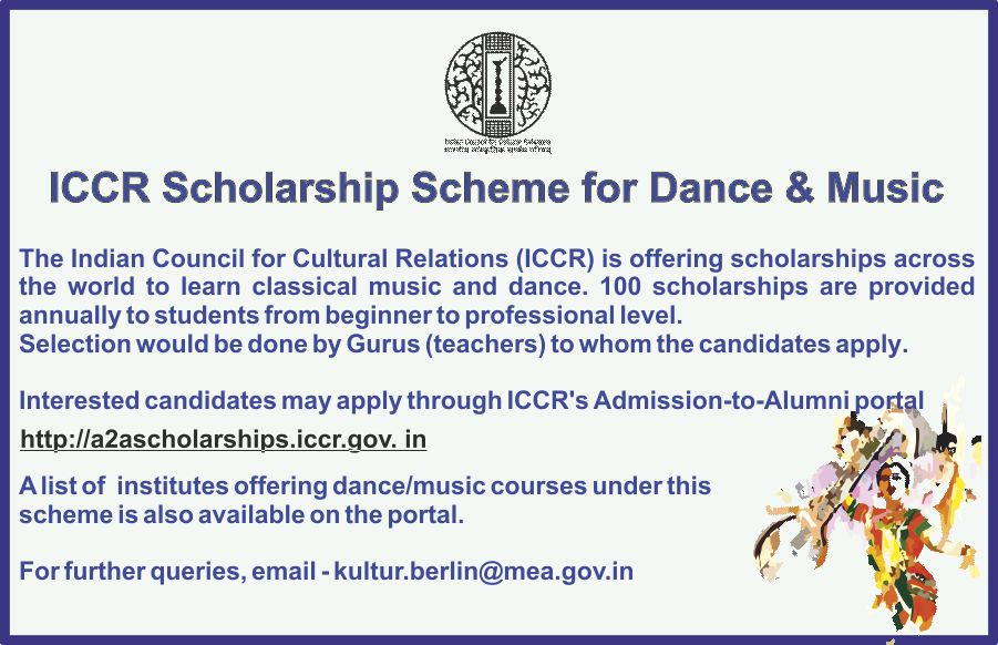 Image result for ICCR Scholarship Scheme for Dance and Music