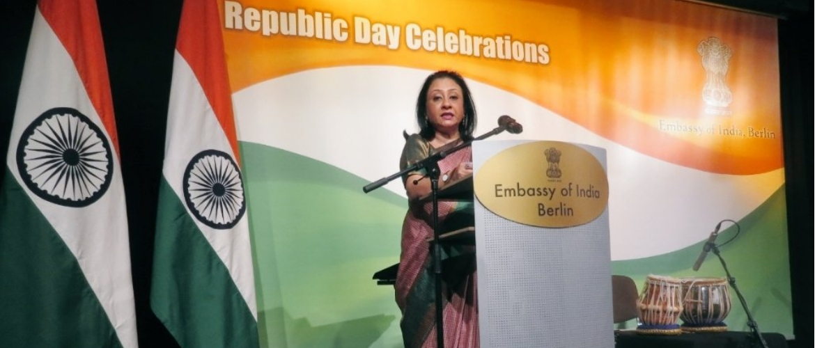 Ambassador Mukta Dutta Tomar at the Republic Day celebrations on January 26th 2019.