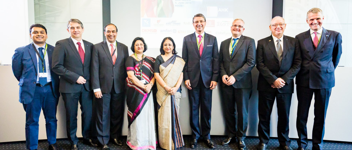 Ambassador Smt. Mukta Tomar at the Annual Meeting of the Indo German Chamber of Commerce AHK global in Köln in June 2018