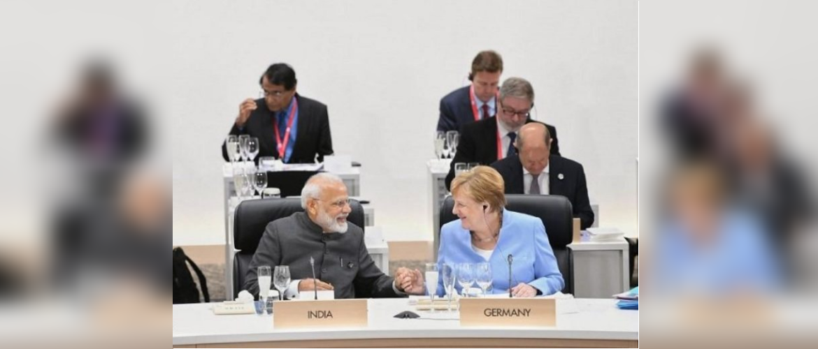 PM Modi and Chancellor Merkel meet on the sidelines of the G20 Summit in Osaka, Japan on 28th June 2019
